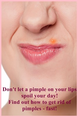Pimple on lips
