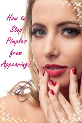 how to stop pimples from appearing