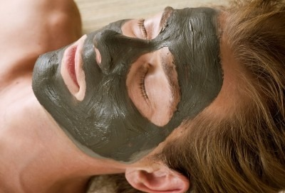 a clay mask